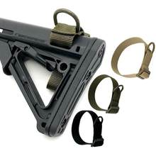 Militaire Airsoft Tactical Buttstock Sling Adapter Rifle Voorraad Gun Strap Gun Rope Strapping Riem Jacht Accessoires
