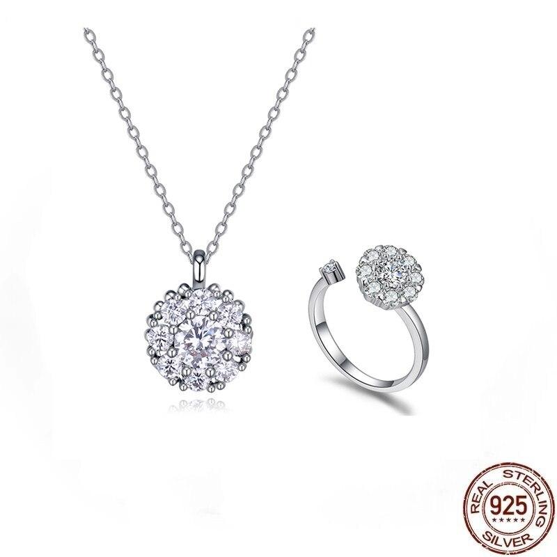 2020 offre spéciale S925 argent charmant bague porte-bonheur taille libre avec AAA Zircon disponible pour noël cadeau bijoux en gros