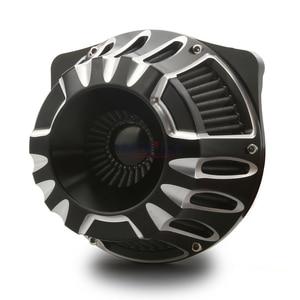 Image 1 - שחור CNC קצה לחתוך צריכת אוויר להארלי סיור FLHX FLHR FLHT FLTR 2017 2020, אוויר שואבי עבור הארלי Softail fatboy 2018 2020