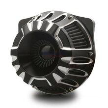 Negro CNC edge cut air intakes para harley touring FLHX FLHR FLHT FLTR 2013 2018, limpiadores de aire para harley Softail fatboy 2014 2019
