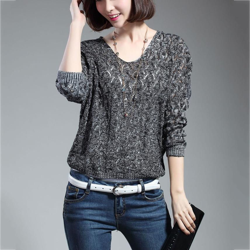 Новинка, осенние женские пуловеры, повседневные топы с v-образным вырезом, свободные рукава летучая мышь, открытая тонкая трикотажная