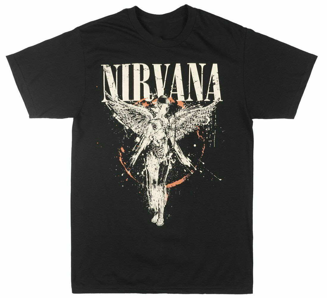 NIRVANA IN UTERO ALBUM T-SHIRT MENS ROCK MUSIC TEE MENS BLACK LIVE NATION NWT