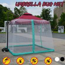 Mesh-Cover Mosquito-Net New-Umbrella Outdoor Double-Sided Black White Camping Home