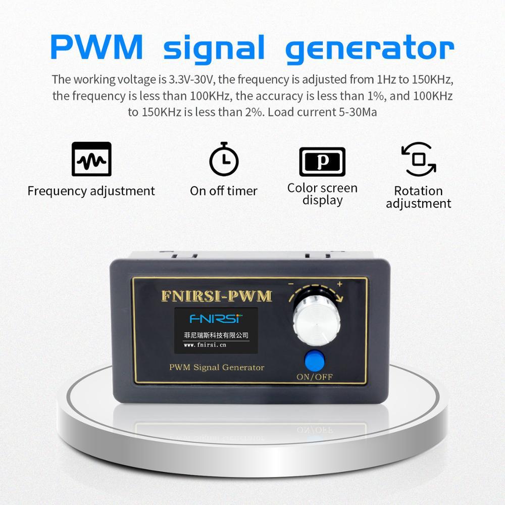FNIRSI-PWM генератор сигналов 1-канальный 1 Гц-150 кГц ШИМ импульсная Частота Рабочий цикл регулируемый модуль ЖК-дисплей