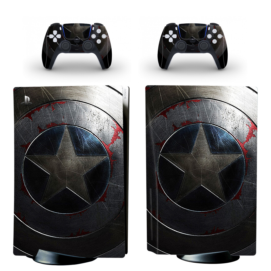 New Film PS5 Standard Disc Edition Skin Sticker Decal Cover for PlayStation 5 Console and 2 Controllers PS5 Skin Sticker 1