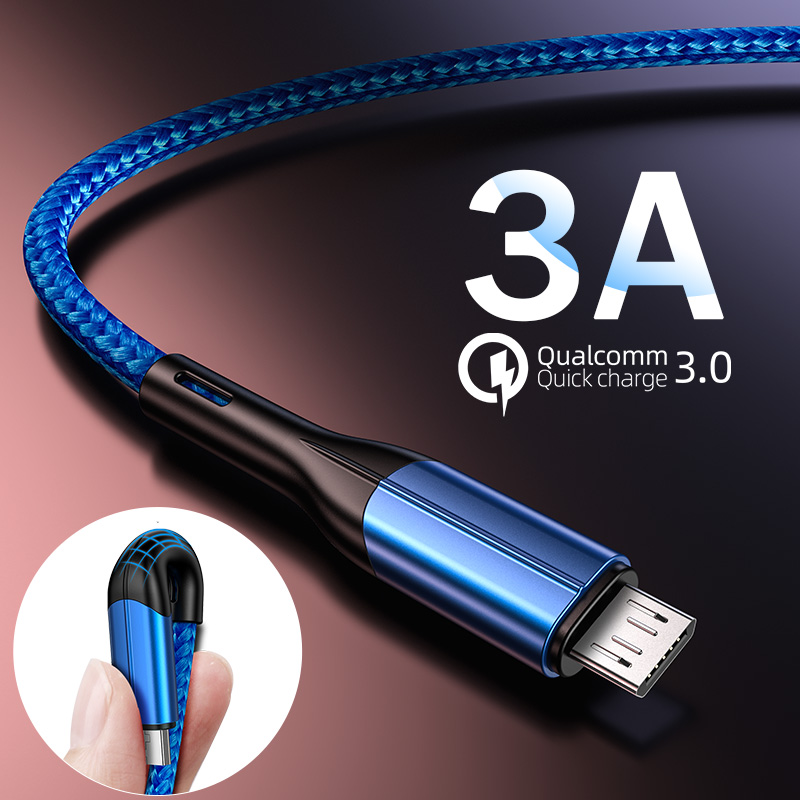 H & A Micro USB Kabel <font><b>3A</b></font> Schnelle Lade Ladegerät Micro usb Kabel Für Samsung Xiaomi Android Handy Ladegerät kabel image