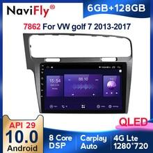 6G + 128G QLED Android 10 Car Radio for VW Golf 7 Multimedia 2013 2014 to 2017 Golf7 Stereo Autoradio DSP Audio Carplay GPS Navi