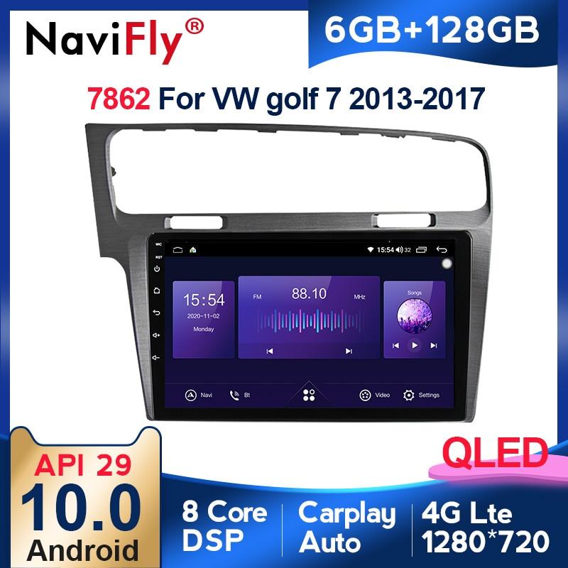 6G + 128G QLED Android 10 Radio del coche para VW Golf 7 Multimedia 2013 de 2014 a 2017 Golf7 estéreo Autoradio DSP de Audio Carplay GPS Navi