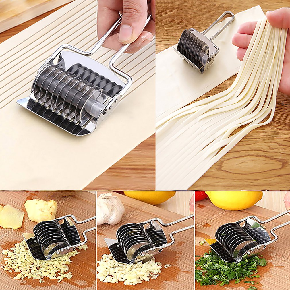 Creative Stainless Steel Cut Noodle Maker Home Handmade Noodle Maker Multi Functional Chives Cut Kitchen Tools| |   - title=