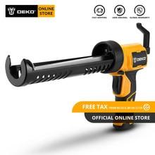 DEKO – pistolet à colle électrique automatique, multifonction, thermofusible, pression électrique, mastic, étanche