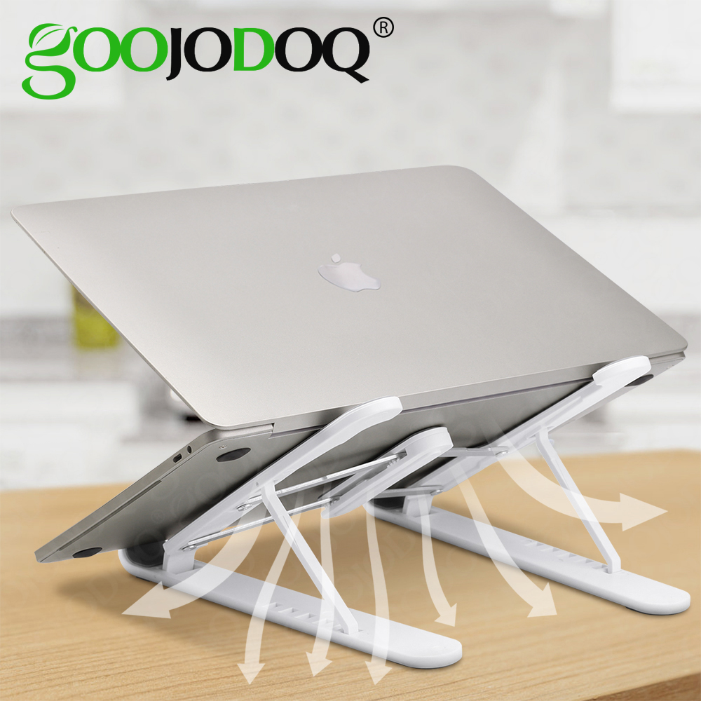 GOOJODOQ Portable Laptop Holder For MacBook Pro Notebook Foldable Laptop Stand Bracket Laptop Holder For PC Notebook IPad HP