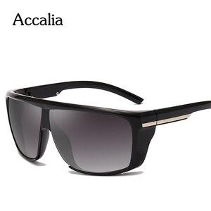 Image 1 - Accalia  Sunglasses Men Polarized Oversized Mirror Driving Square Sun Glasses Brand Designer Retro Driver Sunglass UV400 Goggles