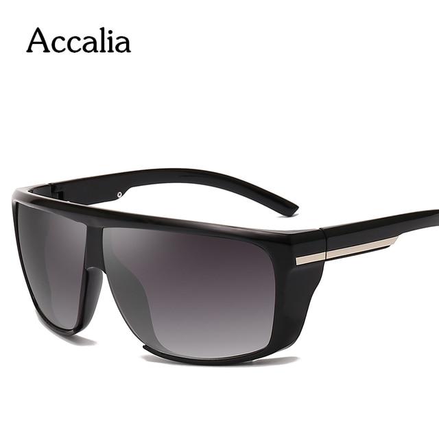 Accalia  Sunglasses Men Polarized Oversized Mirror Driving Square Sun Glasses Brand Designer Retro Driver Sunglass UV400 Goggles