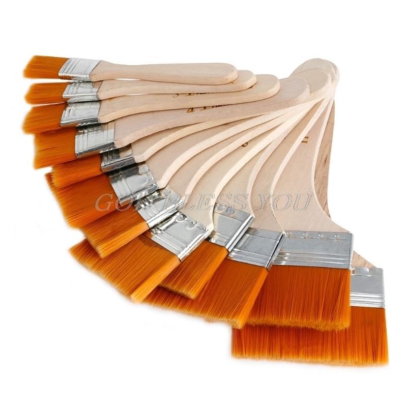 Новинка 12 шт деревянная кисть для рисования художников акриловая живопись маслом инструмент набор художественных поставок