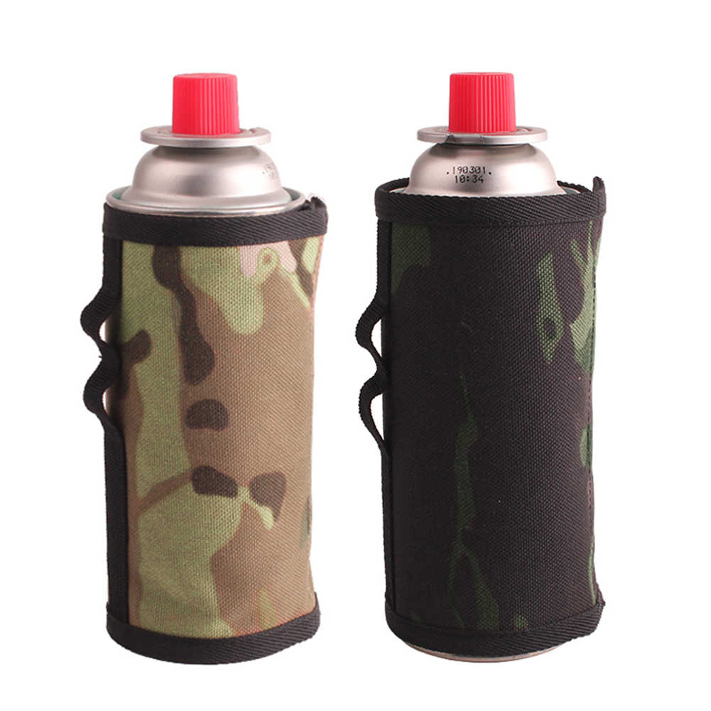 6.5x9.9cm Gas Canister Cover Protector Fuel Canister Storage Bag Outdoor Tools Camping Hiking Gas Cylinder Tank Accessories
