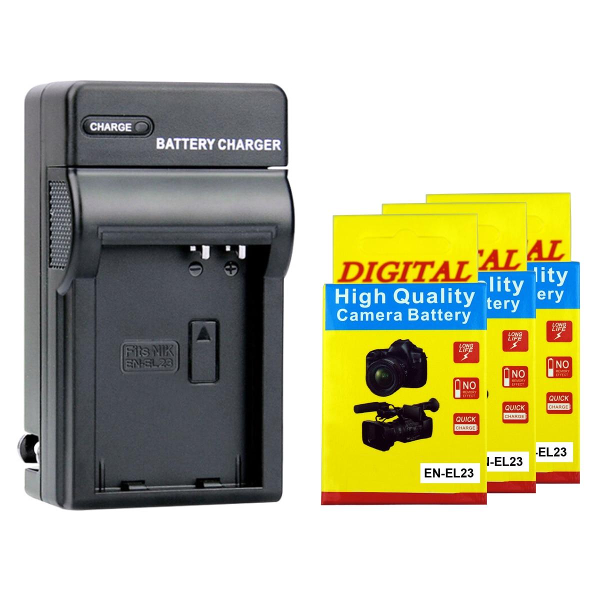2000mAh li-ion batterie EN-EL23 ENEL23 EN EL23 + Chargeur Pour Nikon Coolpix P600 PM159 P610S S810c P900S P900