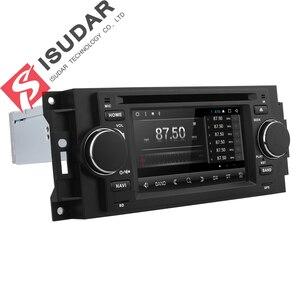 Image 4 - Isudar samochodowy odtwarzacz multimedialny android 7.1.1 5 Cal dla chryslera/300C/Dodge/Jeep/dowódca/kompas/Grand Cherokee Radio GPS DVD
