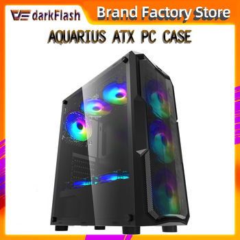 Aigo darkflash ATX/M-ATX/ITX desktop computer case DIY Dustproof mute gaming Acrylic gabinete pc case gamer Mid Tower Chassis 2