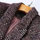 Frauen Plaid Blazer Britischen stil herbst lose plaid jacke verdickung kaschmir temperament retro woolen kleine anzug weibliche - 3