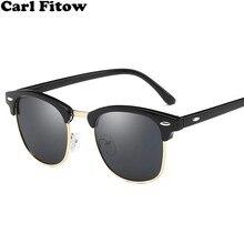 Clássico marca polarizada óculos de sol homem mulher meia metal espelho unisex óculos de sol gafas de sol uv400
