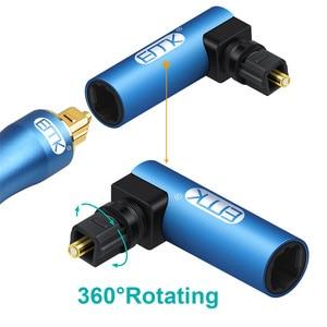 Image 3 - EMK Adaptador de Cable de sonido óptico de 90 grados, ángulo recto, conector óptico SPDIF Toslink, giratorio 360 para Soundbox