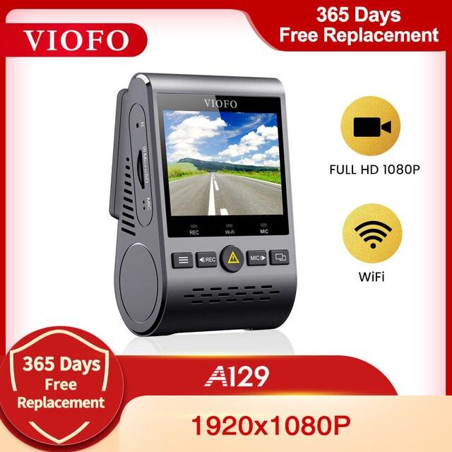 VIOFO كاميرا لوحة القيادة A129 ، نطاق الكاميرا الأمامية ، 5 جيجاهرتز ، wifi ، Full HD ، 1080P ، 30 إطارًا في الثانية ، IMX291 ، مستشعر Starvis مع GPS