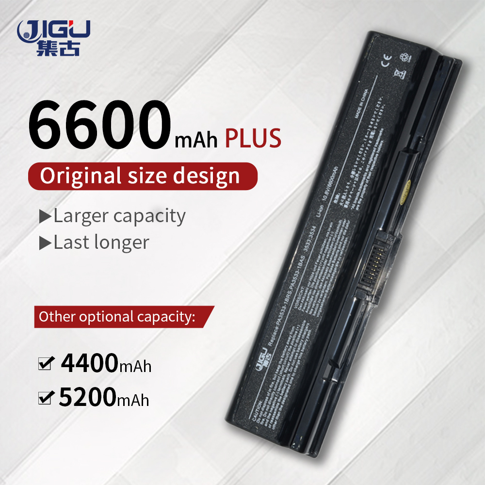 JIGU PA3534u-1brs Laptop Battery FOR Toshiba Satellite Pro A200 A210 L300 L300D L550 L450 L500 L550 A300  6cells