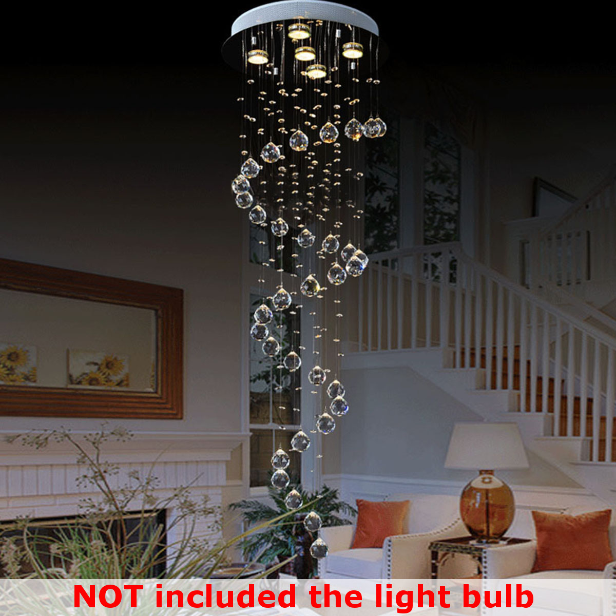100cm Modern LED Double Spiral ...