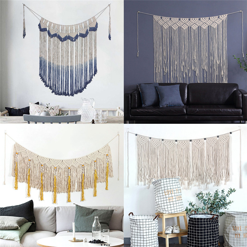 Macrame Wall Hanging  Handmade Woven Wall Tapestry Large Cotton Boho Wedding Backdrop Wall Decoration for Living Room