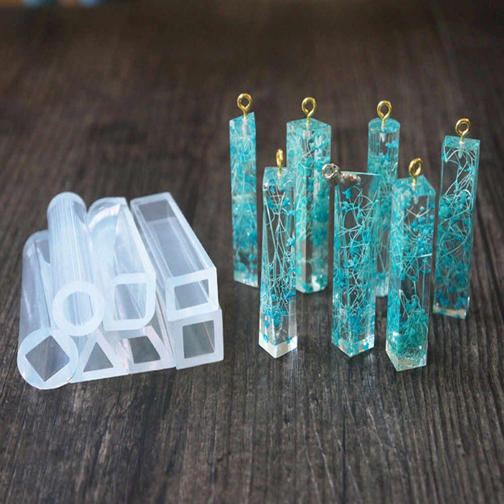 1 Pcs DIY Pendant Liquid Silicone Mold Resin Jewelry Pendant Mould Handmade Decoration Tools Crystal Design New Arrival
