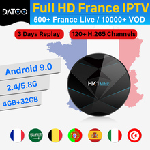 DATOO IPTV France Arabic Spain IP TV Receiver HK1 MINI+ Android 9.0 4G+32G BT Dual-Band WIFI IPTV France Italy Turkey Portugal iptv france arabic italy code datoo hk1 mini android 9 0 bt dual band wifi 1 year iptv france arabic spain portugal set top box