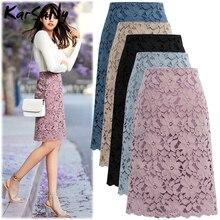 女性スカート夏プラスサイズオフィススカートレディース鉛筆包帯スカート女性スカート膝丈高ウエスト 2020