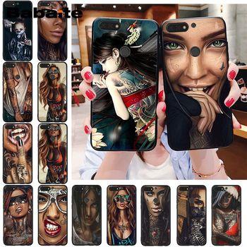 Funda de teléfono para tatuaje de chica Babaite, funda Sexy para Huawei Honor 8X 9 10 20 Lite 9XPro 8C play Honor 7A 7C Honor10i