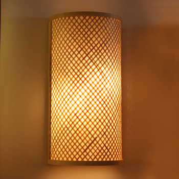 Japanese Wall Lamps Bamboo Lights Bathroom Bedroom Led Wall Lights for Home Industrial Decor Bedroom Dining Room Art Wall Light