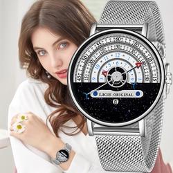 2020 Nieuwe Vrouwen Horloges Luik Top Merk Luxe Horloge Vrouwen Eenvoudige Casual Mode Meisjes Klok Dames Horloge Relogio Feminino