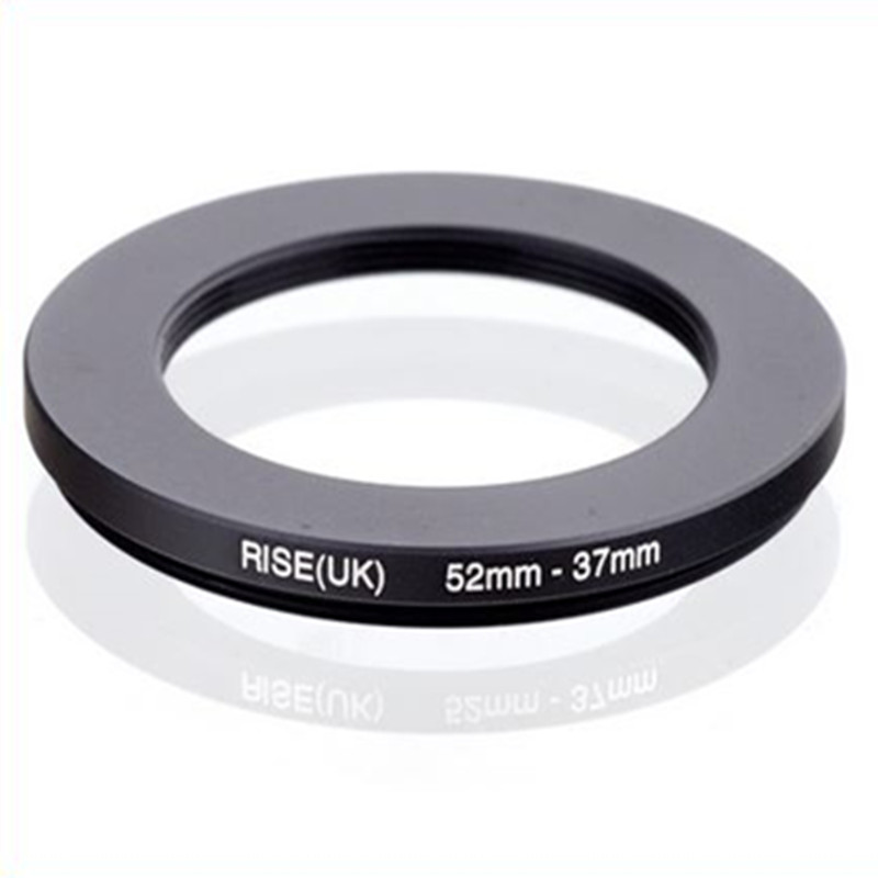 Original RISE(UK) 52mm-37mm 52-37mm 52 To 37 Step Down Ring Filter Adapter Black