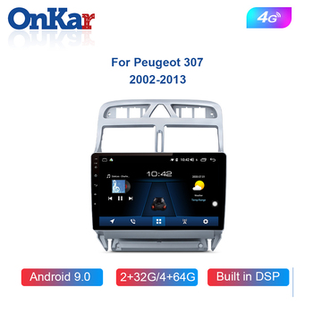 ONKAR Car GPS Navigation For Peugeot 307 2003-2012 Android 9.0 Car AutoRadio Player No 2din DVD Car Stereo Wifi Bluetooth image