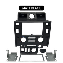 Car styling Stereo Doppio 2 Din Dash Kit cruscotto center console per Land Rover Defender lucido nero opaco nero di CARBONIO GUARDARE