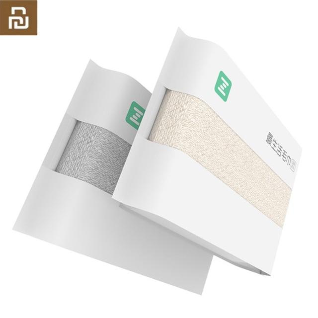 Original Youpin ZSH Cotton Fiber Antibacterical Towel Absorbent Towels 2 Color 34*72cm Soft Bath Face Hand Towel for Family H34