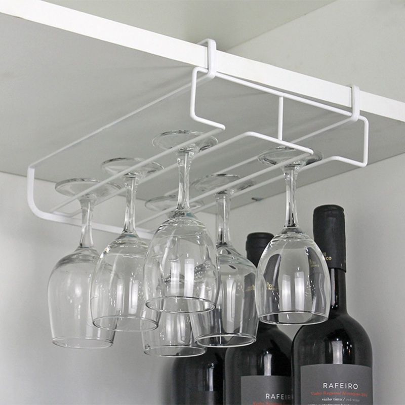 Red wine glass wine glass hanging cup shelf stainless steel hanging upside down wine glass holder home decoration in Storage Holders Racks from Home Garden