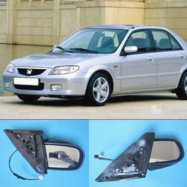 1 Car set L and R body parts 69 12Z 18Z door rear view mirror for Mazda 323 family protege BJ 1998 2005