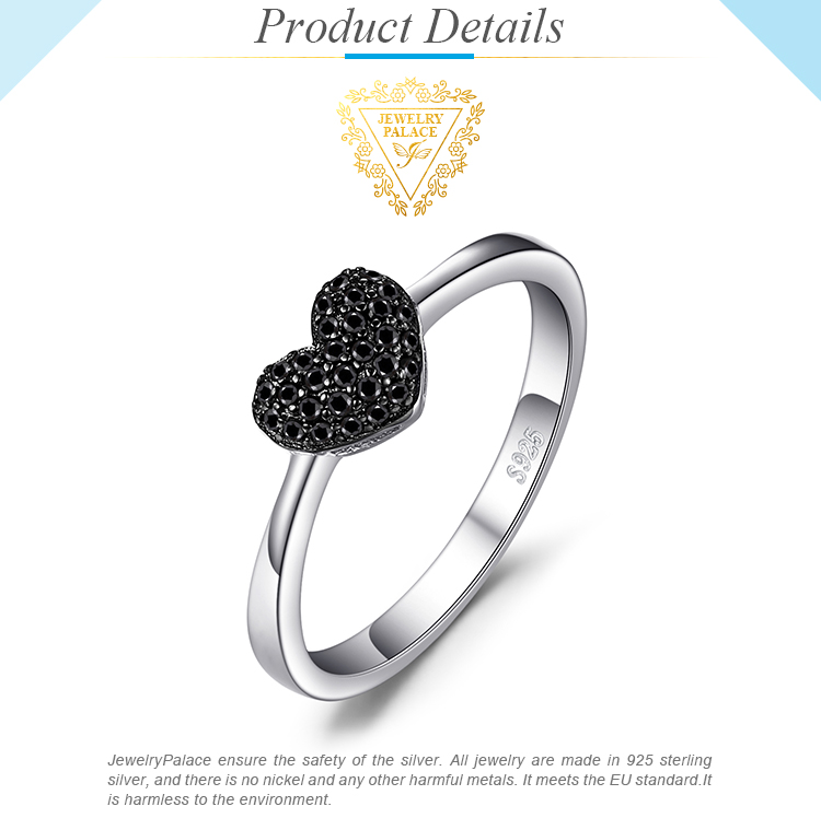 H00bbb4996f89496e8ad6a0707c4c75261 JewelryPalace Heart Natural Black Spinel Ring 925 Sterling Silver Rings for Women Engagement Ring Silver 925 Gemstones Jewelry