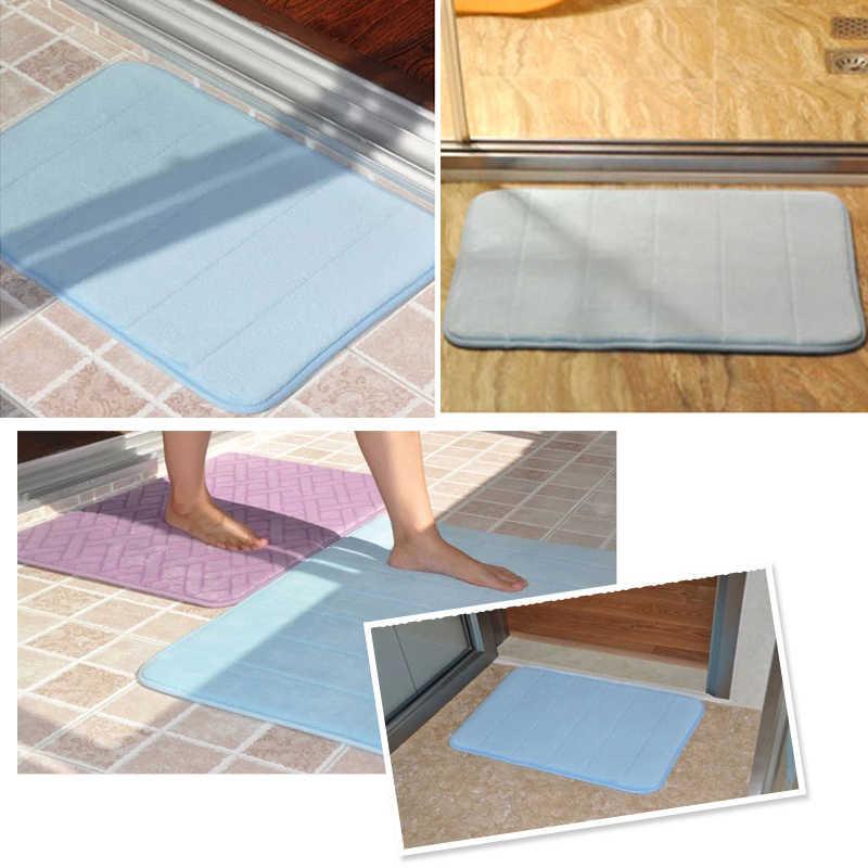 Morbido Bagno Zerbino con Non-scivolare di Nuovo Forte Assorbimento di Corallo Cotone Bagno Tappeto Lavabile In Lavatrice Pavimento Del Bagno Tappetini 40x60cm