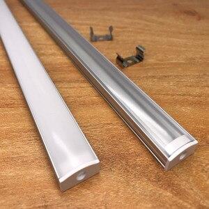 Image 2 - 2 30 комплектов/упаковка 0,5 м 12 мм с алюминиевыми профилями для 5050 5630 светодиодный алюминиевый сплав плоский корпус + крышка ПК