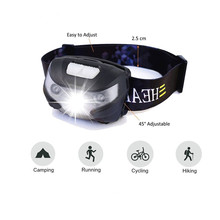 5W XPE Brightest Running Headlamp Body Motion Sensor 5 Modes Bike Led Light Waterproof Rechargeable Head Torch