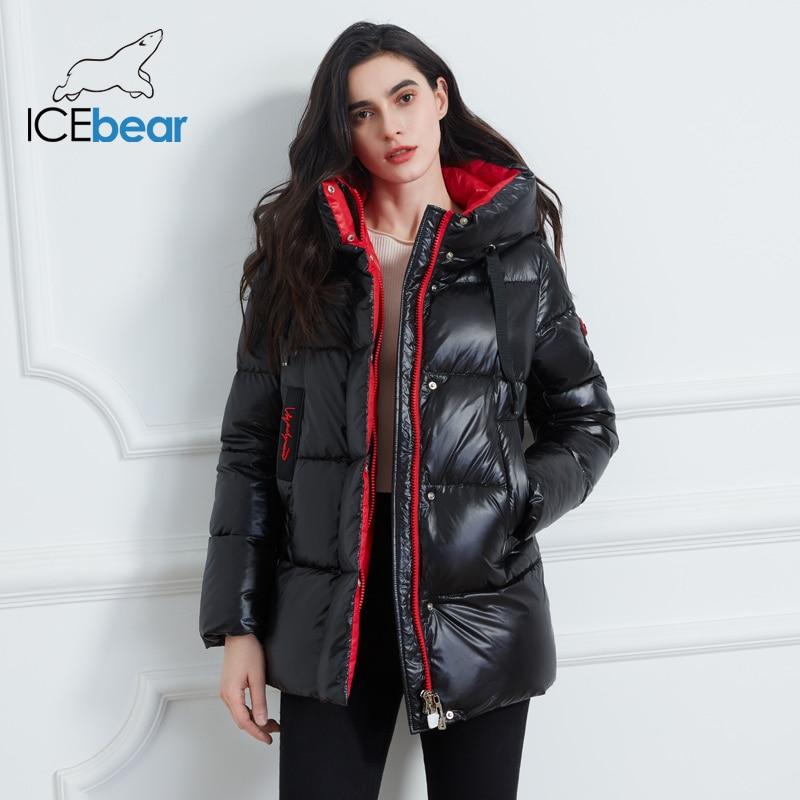 ICEbear 2020 New Winter Jacket High Quality Hooded Coat Women Fashion Jackets Winter Warm Woman Clothing Casual Parkas GWD19502I