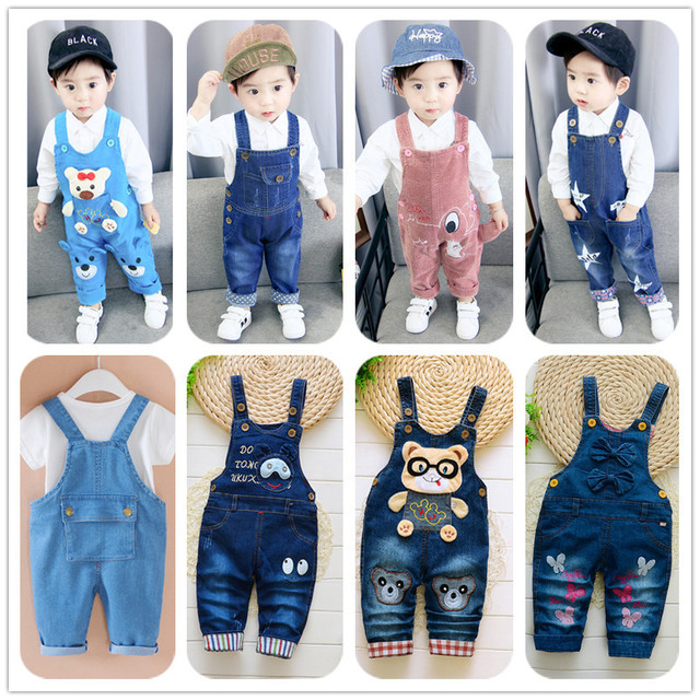 Baby Pants Trousers Overalls Jeans Toddler Girls Infant Boys Kids Little Children Cartoon title=