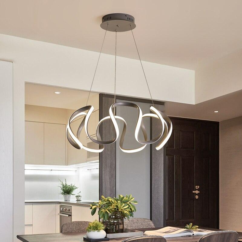 30W 40W Minimalism Gray LED Pendant Lights Aluminum Brightness Dimmable Hanging Lamp For Indoor Living Room Restaurant Bedroom|Pendant Lights| |  - title=