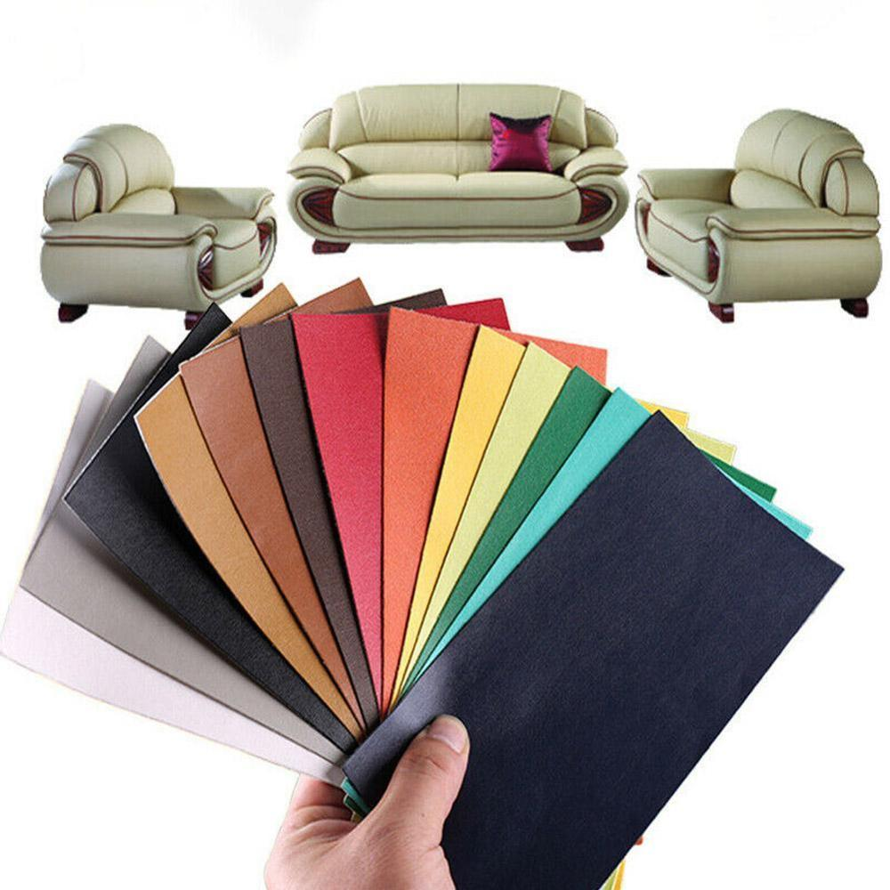 10x20cm Self Adhesive Stick-on No Ironing Sofa Repairing Leather PU Fabric Stickers Patches Scrapbook Fabric Badges