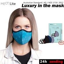 Новинка! Модная маска MEO против пыли PM0.1 дышащая и моющаяся PM2.5 фильтр 99.8% с фильтром для мужчин и женщин